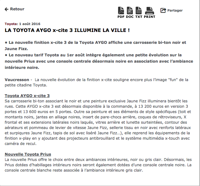 Communiqu de presse 4 exemples tr s efficaces for Article de restaurant