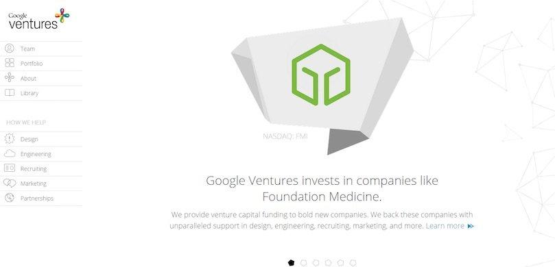 Google Ventures : un exemple de site « corporate » (WordPress VIP)