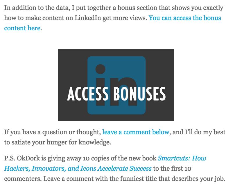 Créez un bonus spécifique par article pour plus d'abonnés à votre newsletter