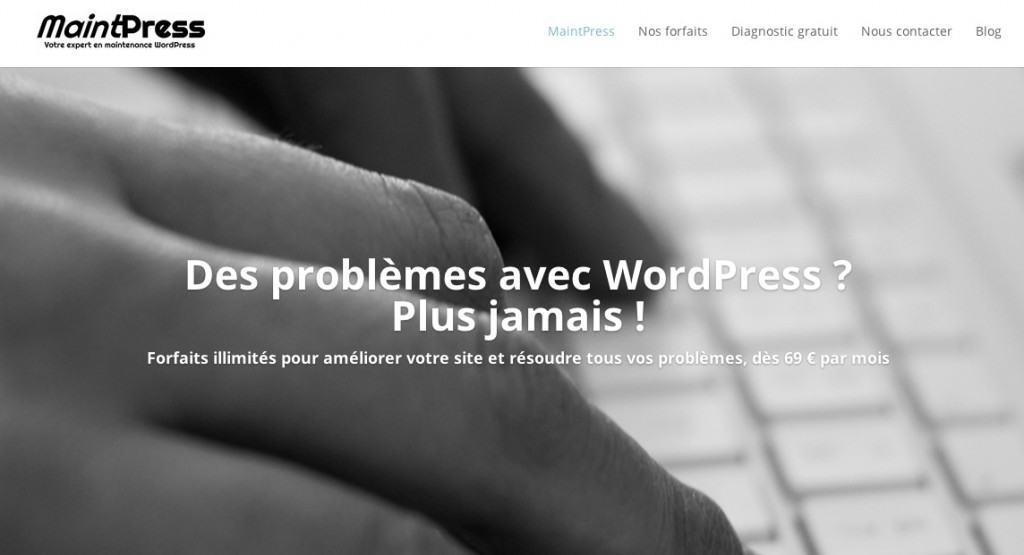 Problème fréquent sur les sites WordPress des TPE et entrepreneurs : Une page d'accueil sans proposition de valeur (USP)