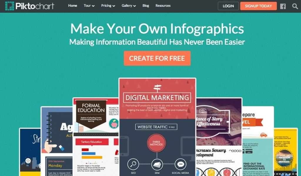 Piktochart est une autre alternative robuste pour créer vos infographies