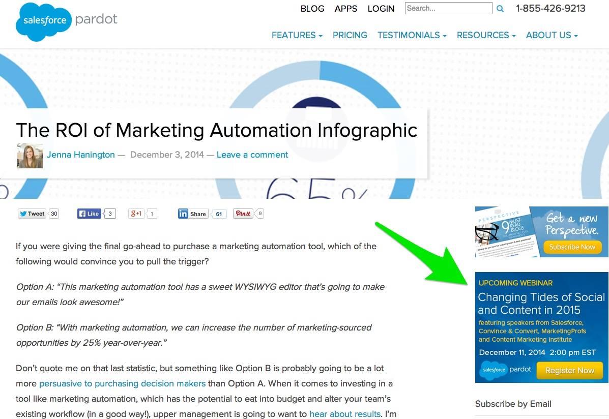 Utilisez votre blog pour promouvoir votre webinaire