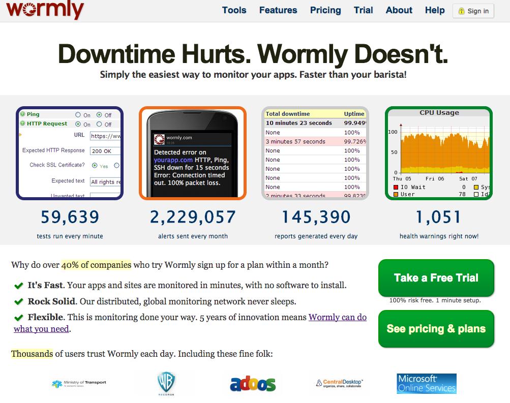 Utilisez Wormly pour monitorer votre site Internet