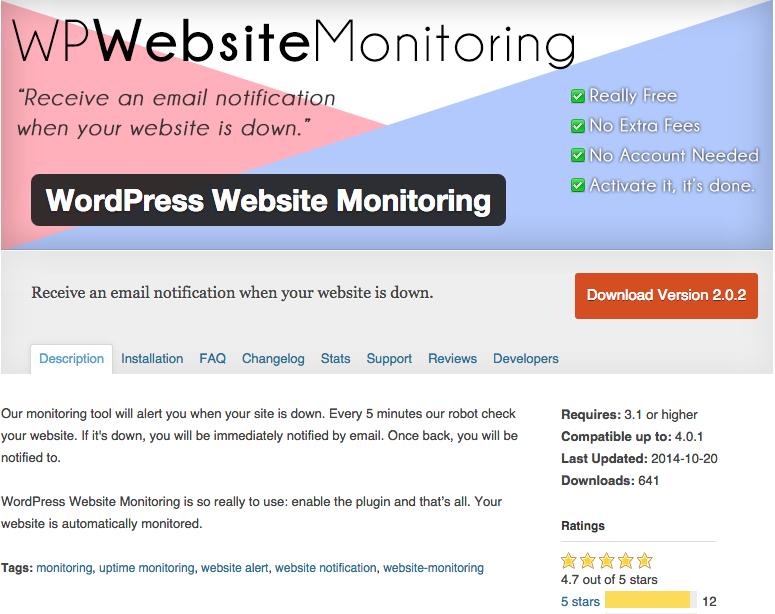 Surveillez votre site WordPress avec WordPress Website Monitoring