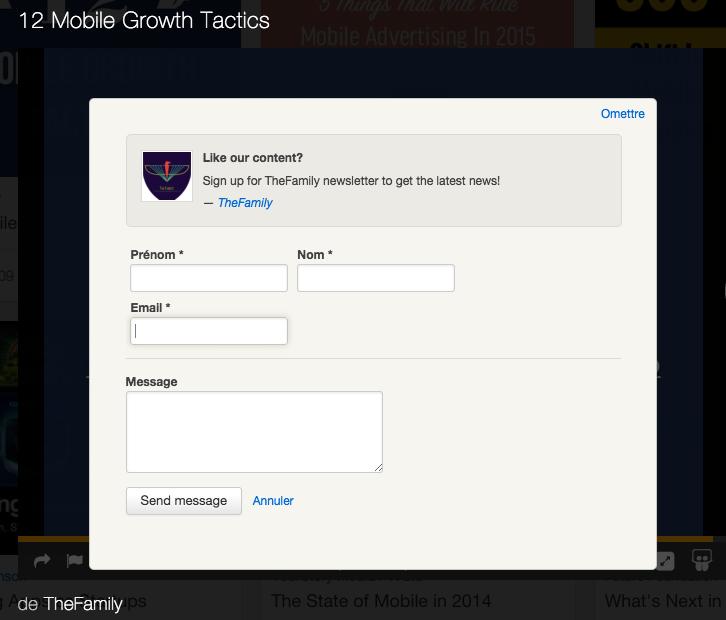 Intégrez un formulaire de capture d'email dans SlideShare