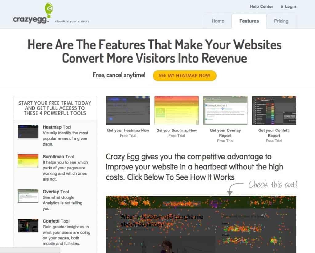 CrazyEgg est le leader de la heatmap