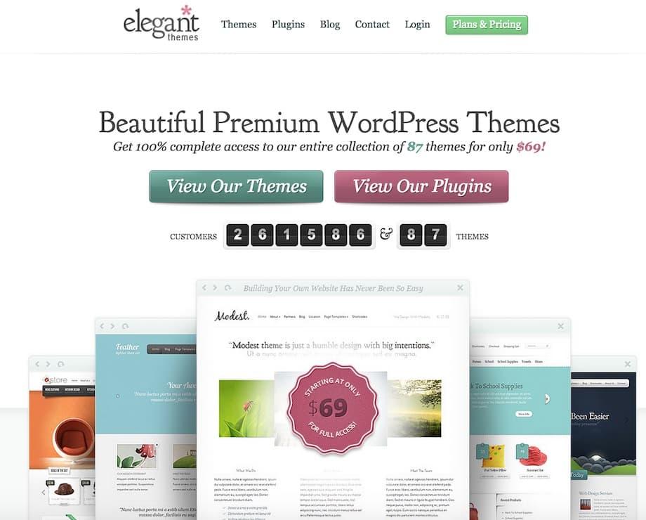 Elegant Themes : achat de thèmes WordPress groupés