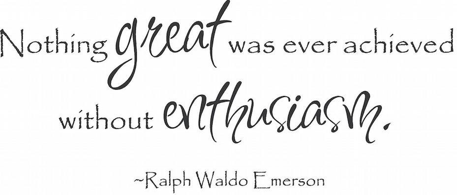 La confiance et l'enthousiasme