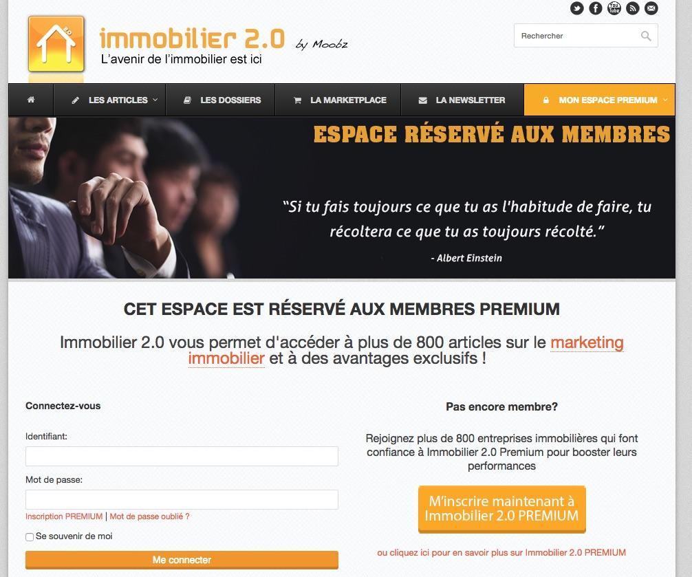 site dont le modèle économique repose sur l'accès payant au contenu via un abonnement de membre