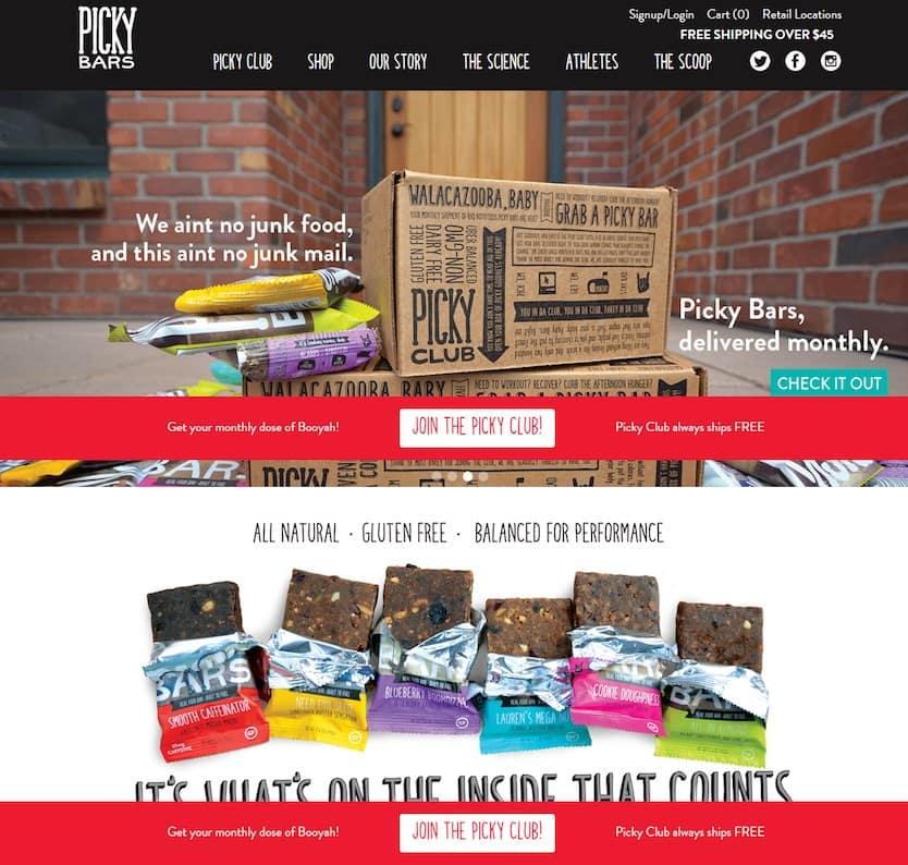 Picky Bars : une boutique e-commerce avec WordPress et WooCommerce
