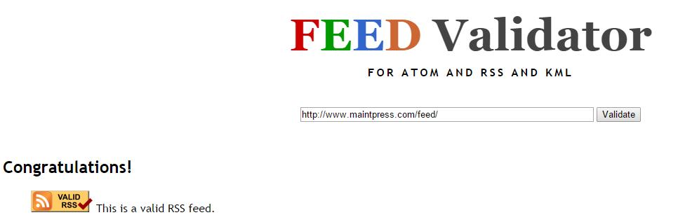 Vérifiez que votre flux RSS fonctionne bien dans le cadre de la maintenance de votre site WordPress