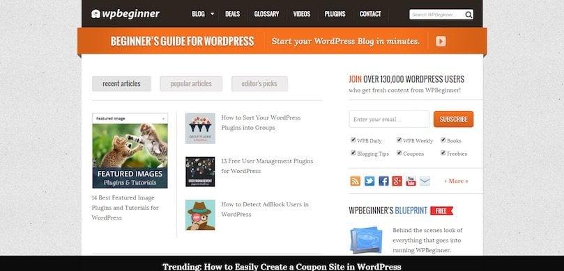 WP Beginner (ressources gratuites)