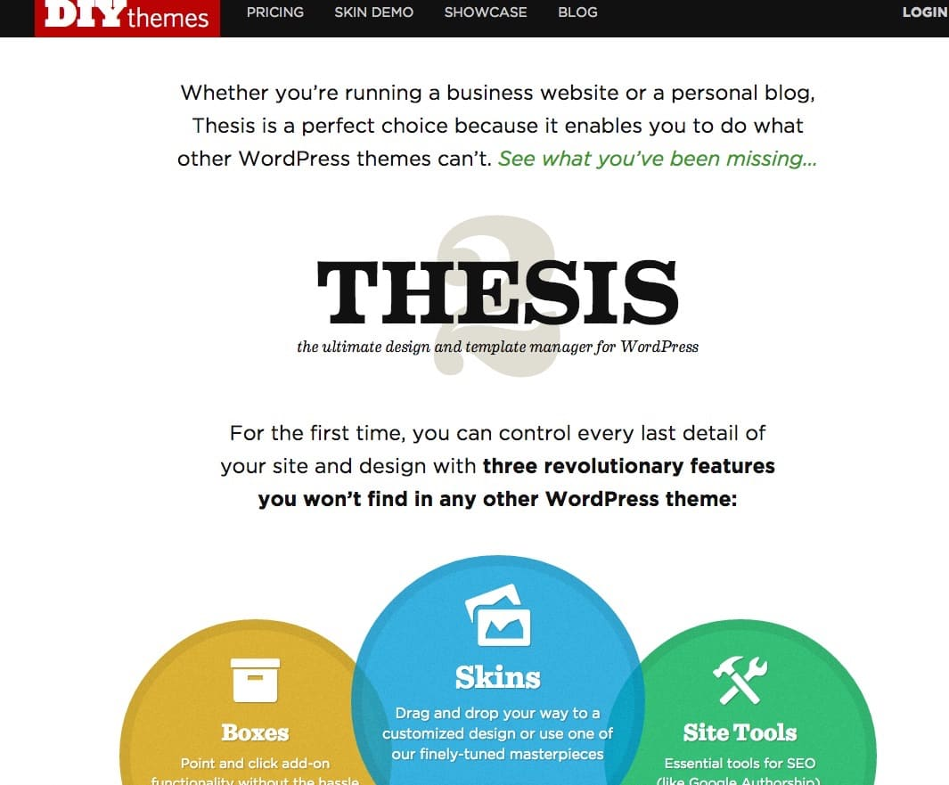 Le framework WordPress Thesis