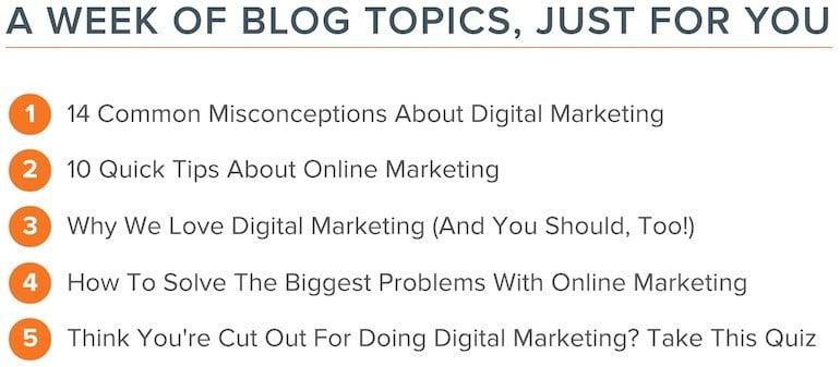 Générez des sujets d'articles pour votre web marketing avec l'outil d'Hubspot