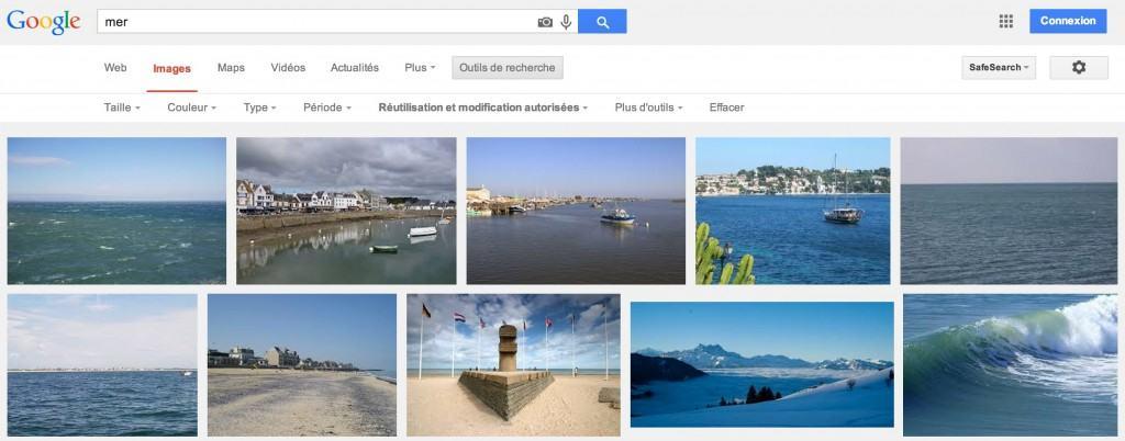 Trouvez des images gratuites et libres de droits pour votre site ou blog sur Google Images