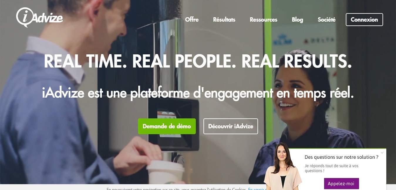 iAdvize : engagez vos visiteurs en temps réel avec différentes solutions de Click to Call et Live Chat