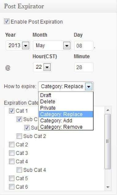 Fixez une date d'expiration pour vos articles ou vos pages