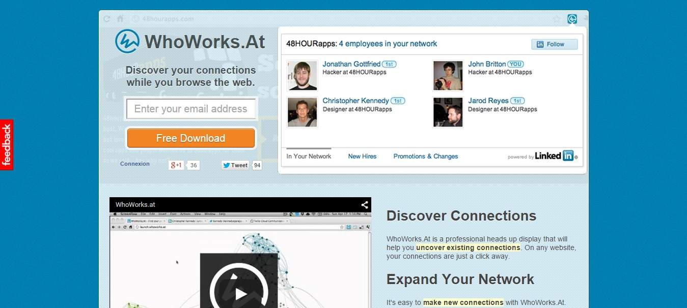 WhoWorks.At : identifiez des connexions existantes et créez de nouveaux contacts