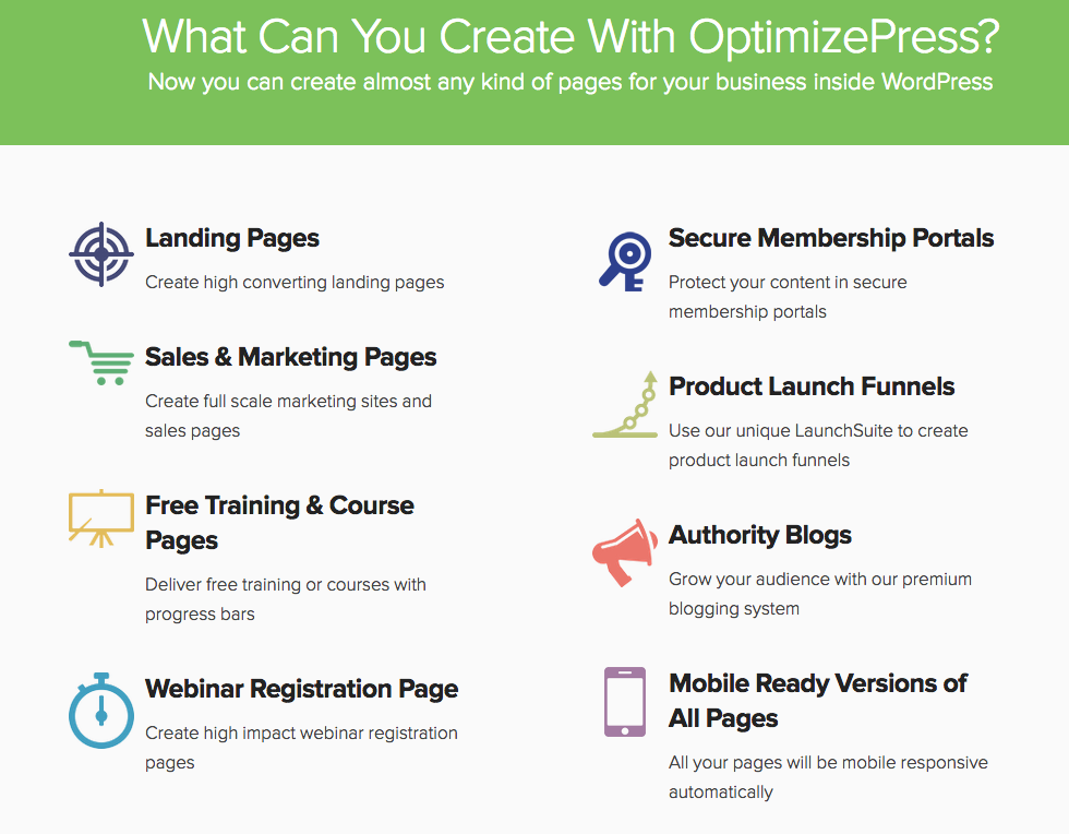 OptimizePress, la suite premium de landing page WordPress