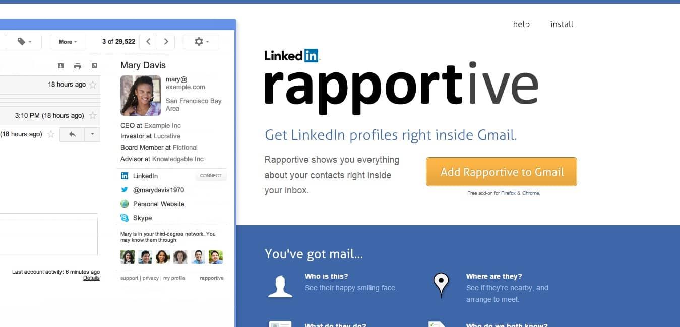 Rapportive : obtenez l'adresse e-mail de n'importe quelle personne
