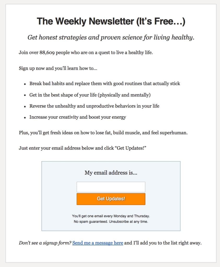 Redirigez les nouveaux lecteurs vers une landing page spécifique pour booster le nombre d'abonnés à votre newsletter