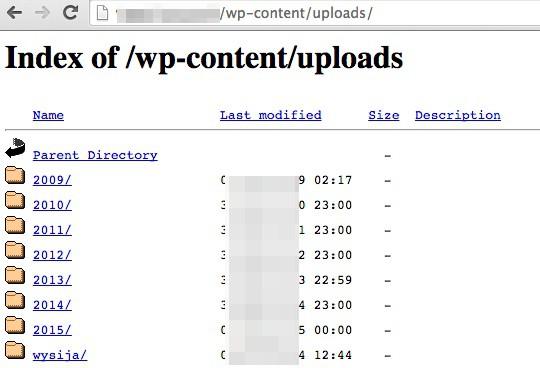 Empêchez les internautes d'accéder à votre répertoire de fichiers