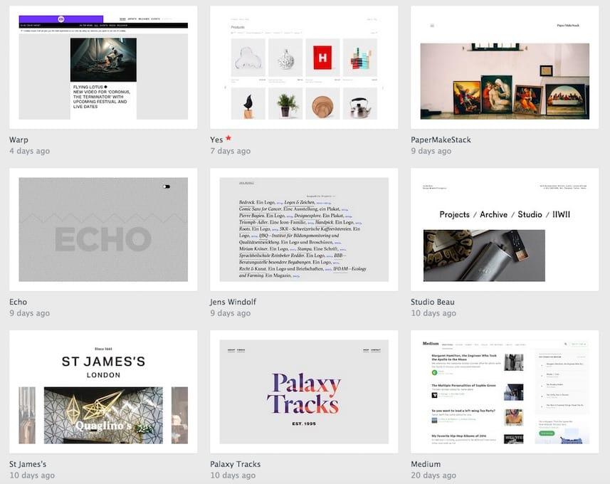 Intégrez des sites qui vous plaisent et inspirations à votre cahier des charges pour votre site Internet