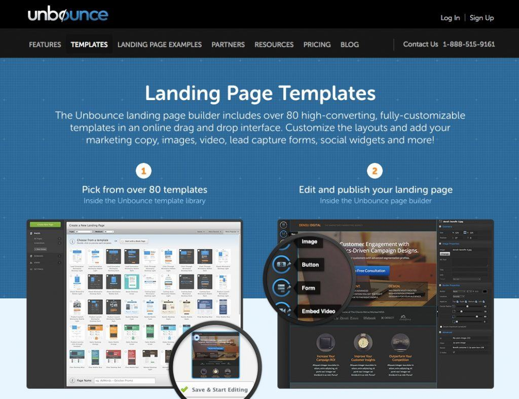 Solutions landing pages compatibles avec WordPress : Unbounce