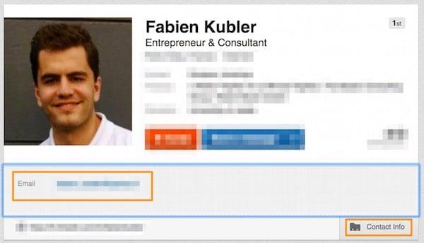 Trouvez une adresse e-mail sur LinkedIn