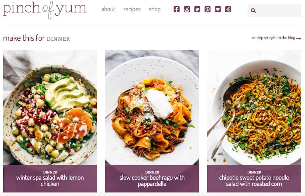 Pinch of Yum or how to monetize his cooking recipes blog with brilliance